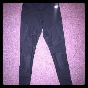 """Pink"" sheer detailing  athletic leggings"